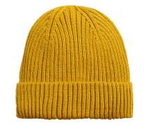 Gerippte beanie-mütze