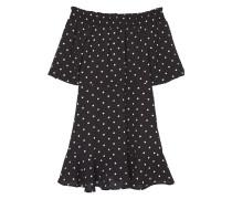 Off-shoulder kleid mit polka dots