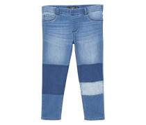 Slim fit jeans mit patches
