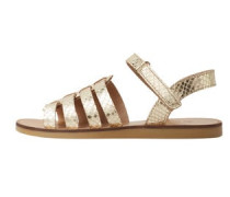 Metallic-sandalen aus leder