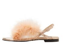 Sandale mit federapplikation