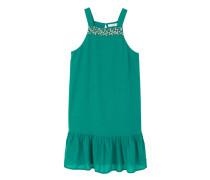 Kleid mit textur und schmucksteinverzierung