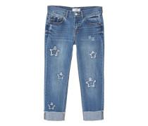 Straight Jeans In Cropped-Länge Estrella