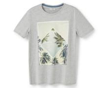 T-Shirt Mit Palmenaufdruck