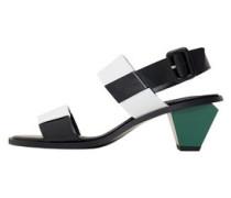 Sandale Mit Kontrastabsatz