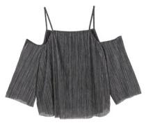 Off-Shoulder Bluse Mit Metallic-Effekt