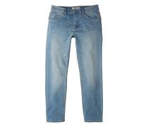 Slim fit jeans mit heller waschung