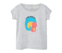 T-shirt mit plastischem design