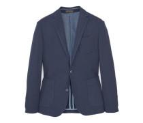 Destrukturierter slim fit-blazer aus baumwolle