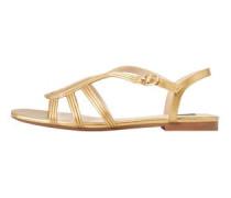 Riemen-sandale im metallic-look