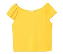 T-shirt aus leinen-mix