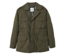Field jacket aus baumwolle mit taschen