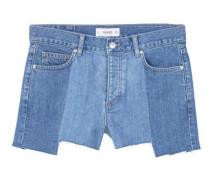 Jeansshorts In Mittlerer Waschung