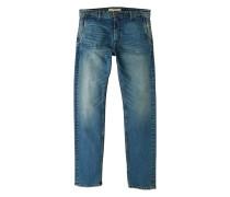 Slim fit jeans mit vintage-waschung