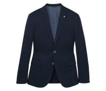 Slim fit-blazer aus baumwolle mit textur