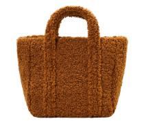 Tasche mit shearling-textur