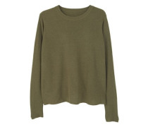 Pullover mit rückenschlitz