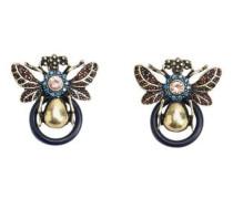 Insekt-Ohrring Mit Kristallsteinen