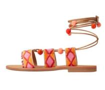 Sandaletten mit dekorativen riemen