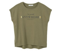 T-Shirt Mit Perlenverzierung