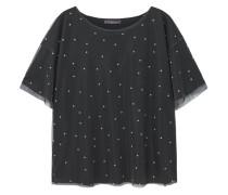 Tüll-t-shirt mit polka dots