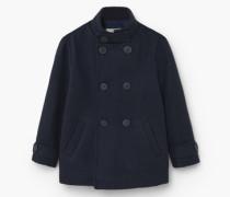 Zweireihiger Mantel Aus Woll-Mix