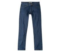 Straight Fit Jeans Brett Mit Dunkler Waschung
