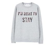 Sweatshirt Mit Metallic-Aufschrift