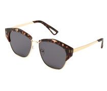 Schildpatt-sonnenbrille retro-stil
