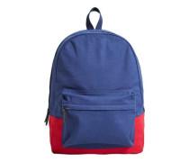 Canvas-rucksack mit kontrasten