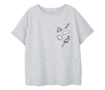 Besticktes baumwoll-t-shirt