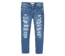 Girlfriend-jeans mit zierrissen