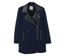 Mantel mit kontrast-reverskragen