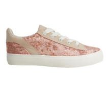Sneakers mit paillettenbesatz