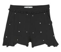 Fließende shorts mit perlenverzierung