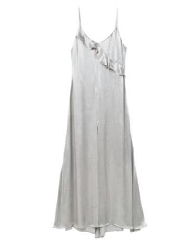 Langes Kleid Mit Volant