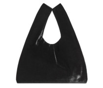 Shopper bag aus samt