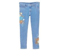 Bestickte skinny jeans