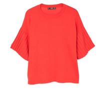 T-shirt mit plisseeärmeln