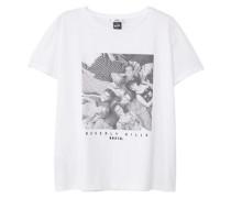 Baumwoll-T-Shirt Mit Viskose