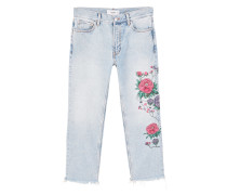 Straight jeans dalia mit stickereien