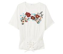 Besticktes t-shirt mit korsett