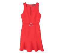 Kleid mit schlitzausschnitt und ring-detail