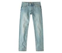 Straight Fit-Jeans Mit Vintage-Waschung Brett