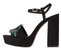 Sandale mit dekorativen applikationen