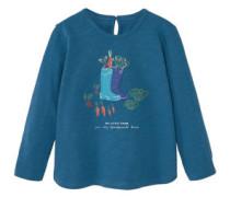 Baumwoll-T-Shirt Mit Stickerei
