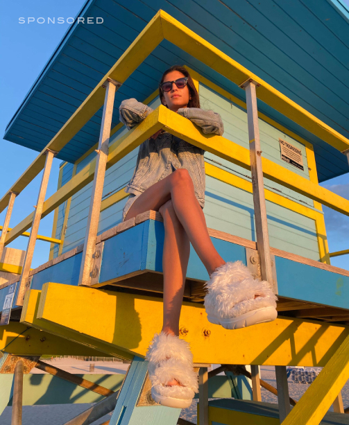 UGG Plant Power Collection Fluff Sandal