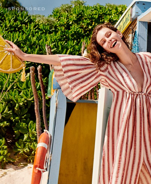 Gestreiftes Strandkleid via mytheresa.com