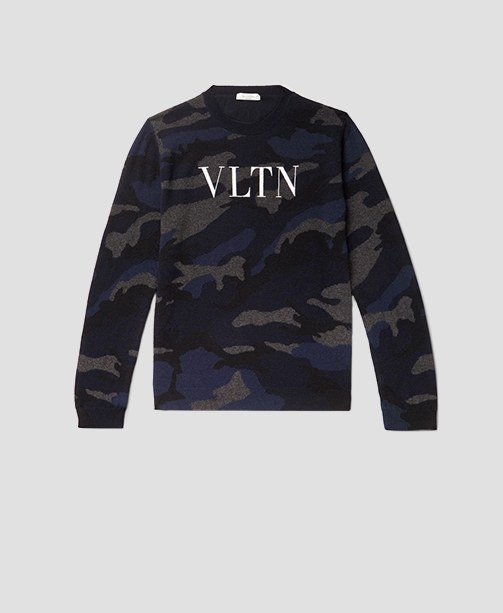 Valentino Pullover mit Camouflage-Muster