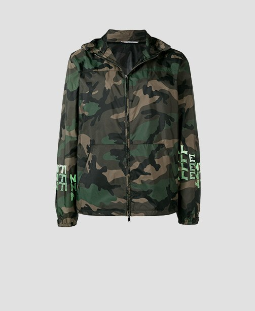 Jacke Camouflage-Muster Valentino